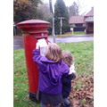Posting our letters to Santa