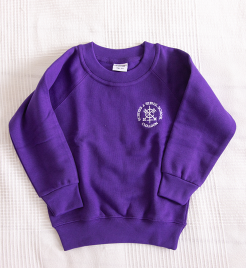 Purple sweatshirt  Age 3/4, 5/6, 7/8, 9//10, 11/12—£9.20