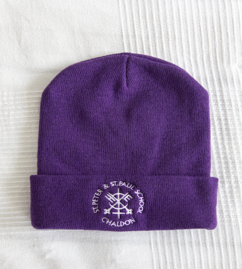 Purple winter ski hat  One size—£3.95
