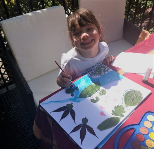 Creating Art in the sunshine
