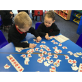 Practising our letter recognition