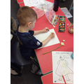 Concentrating on the shapes and colour