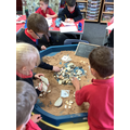 Counting in tens and ones in the sand
