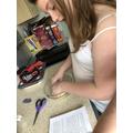 Multi tasking - baking and reading!
