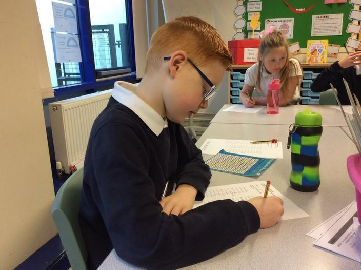 We are working really hard on our times tables!
