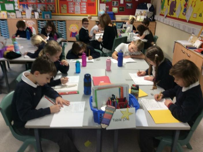 Children enjoying an extended Writing Session