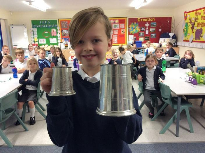 Pewter Mugs from home link to our English session.