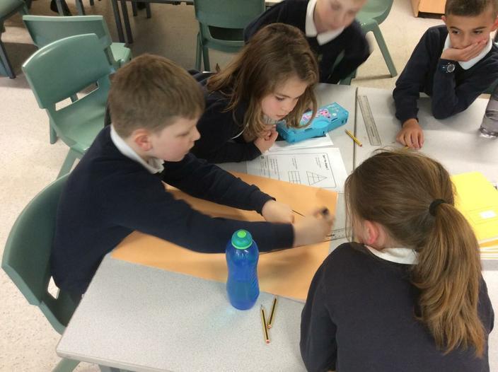 Children working on their problem solving skills.