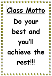 Our Class Motto
