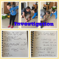 Luks completing the maths investigations.