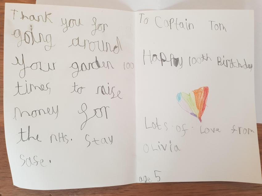 Olivia's message to Captain Tom