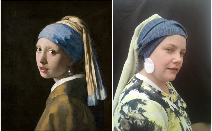 Girl with a Pearl Earring by Mrs Baker / Vermeer
