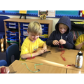 Weaving poppies for remembrance