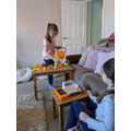 Millie creating her own shop.