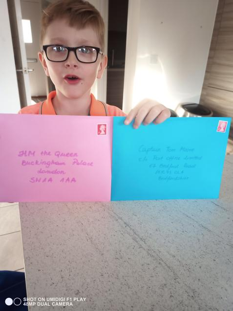 Oscar's cards ready to be sent off