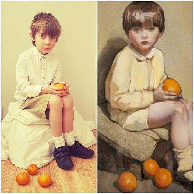 Boy with Oranges by William / Neilson Gray