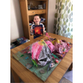 Lukas learnt about and made his own volcano.