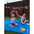 Szymon and his family celebrated VE day.