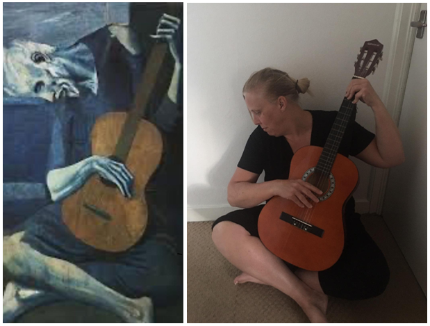 The Old Guitarist by Mrs Streatfield / Picasso