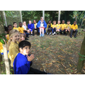 Sharing a Bible story in the outdoor classroom