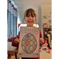 Penny completing Easter maths!