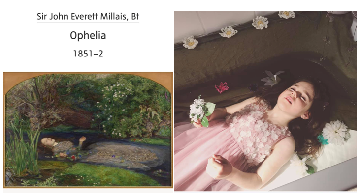 Ophelia by Ophelia / Millais