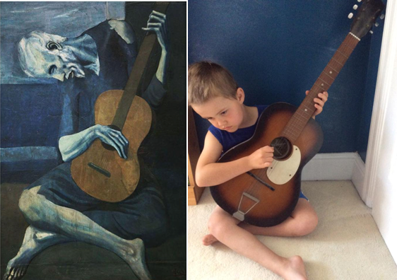 The Old Guitarist by Noah / Picasso