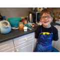 Ben learnt lots whilst making pumpkin muffins.