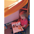 Toby's reading den.
