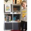 Oliver set up a pokemon shop.