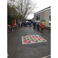 We learnt to keep safe when cycling and scooting.