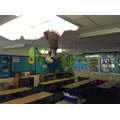 Our magic beanstalk grew and a giant appeared in the clouds!