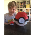Oliver made a magnificent pokeball!