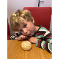 Oliver made bread rolls.