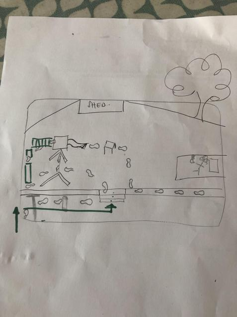Arabella's design for her obstacle course