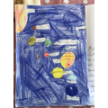 Scarlett created her own space project.