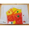 Ben designed a fruit and veg house.