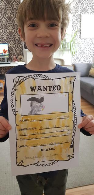 William's wanted poster