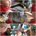 Toby making his cupcakes.