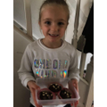 Bella made delicious cakes.