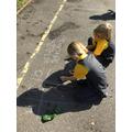 Addition and subtraction using place value.