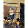 We had an exciting assembly today with a visit from some owls!