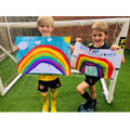 Kian and Ryan made posters for thier mummy's work