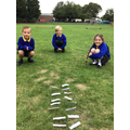 We played a maths game outside, ordering 4-digit numbers.