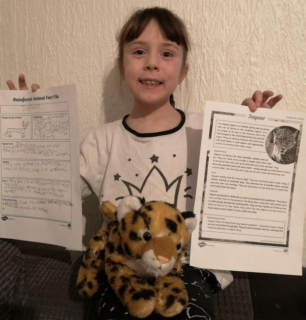 Penny has been leanring about jaguar habitats