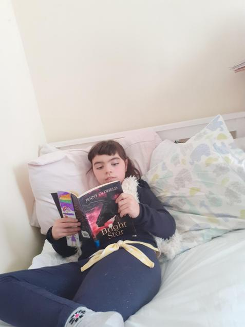 Marianna found peace to read in her bedroom