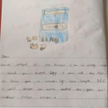 Millie's crayon letter.