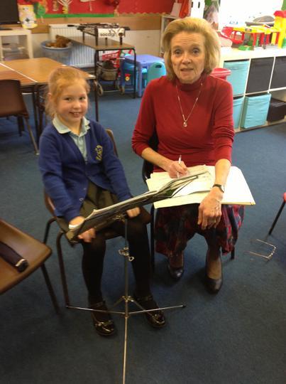 Mrs Rigg- Recorder Teacher, choir & orchestra lead