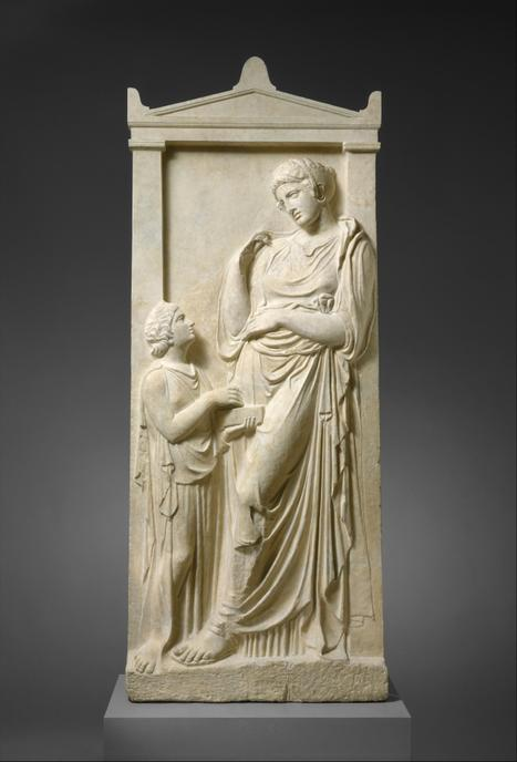 Ancient Greece Stele of a Greek woman with her servant