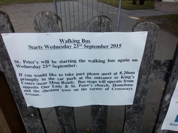 Walking Bus Notice Autumn 2015